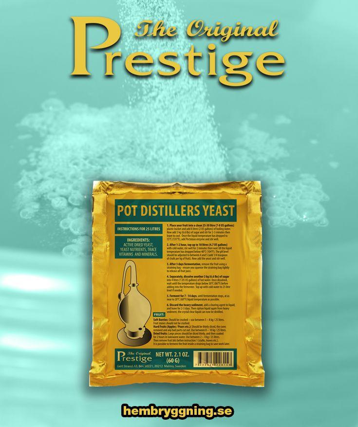 Pot Distillers Turbojäst 18% är en jäst vi säljer i EU för jäsning av fruktsnaps och Grappa och fruktvin.   Endast engelsk bruksanvisning, mer info på www.turbo-yeast.com