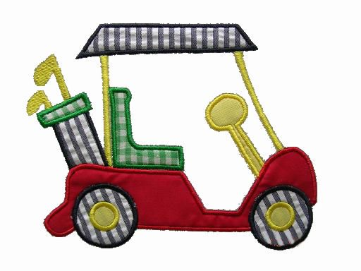 Golf Cart Applique Design