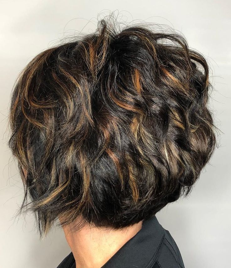 Short Bob with Piece-y Layers and Babylights