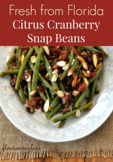 Citrus Cranberry SnapBeans, Fresh from Florida, green bean recipes, local, Florida produce, Florida winter vegetables