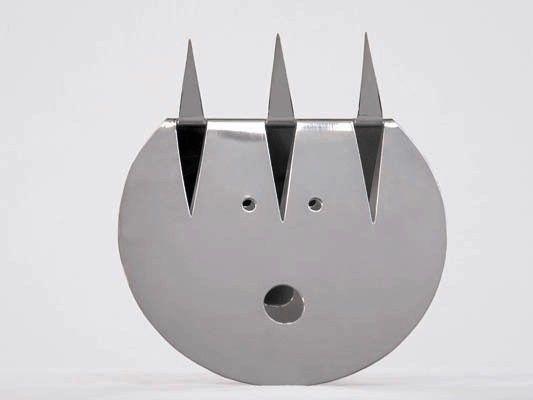"""Sculpture """"Cavallo"""" des. Gio Ponti, production Sabattini 1978, silver plated brass"""