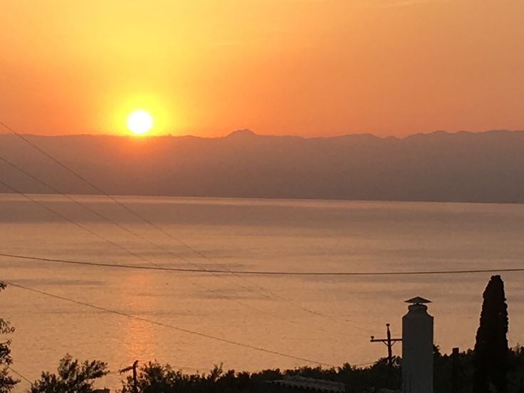 Sunset over the Bay of Messene in the far south of the Peloponnese. Every day the sunset from the old stone cottage I was staying in was different...but never less than spectacular.