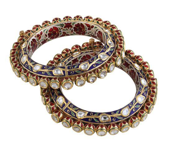 Polki Bangles Designs | Hazoorilal Polki Bangles Collection | Hazoorilal by Sandeep Narang