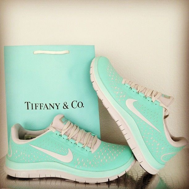 Tiffany coloured blinged shoes!