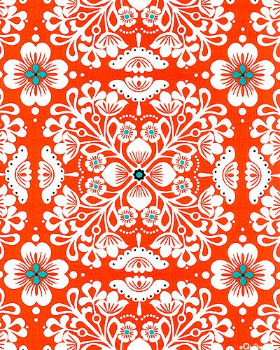 Pippa' from Michael Miller Fabrics. **this resonates with me. bold, bright color, a splash of contrast. i feel alive looking at this print.