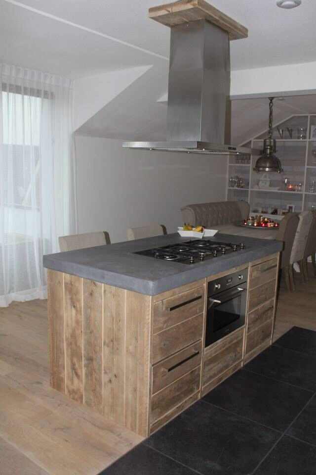 Steigerhout keuken tekening for 3d tekening maken keuken