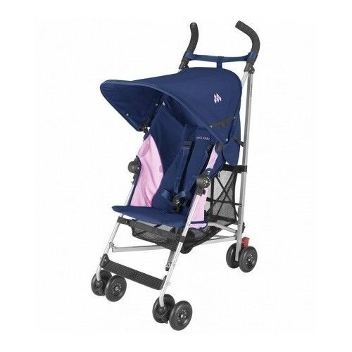 Maclaren Umbrella Stroller Blue and Pink Globetroller Lightweight Travel Pram #MaclarenCompactUmbrellaStroller