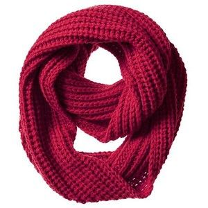 Banana Republic Shaker Stitch Scarf - Saucy red
