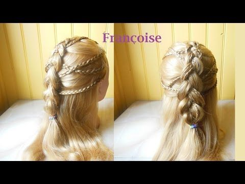 "Coiffure ""Tresse française inverse""-Hairstyle ""Dutch braid ..."