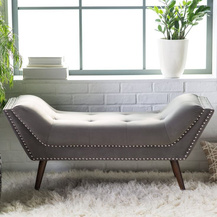 Belham Living Marika Modern Bench - At the end of the bed ...