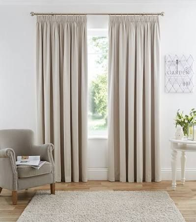 cream pencil pleat curtains - Google Search