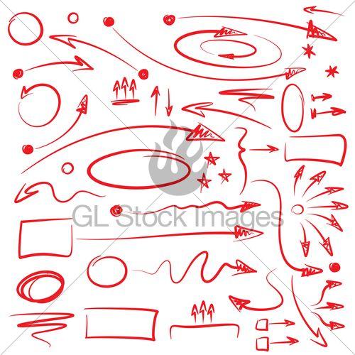 Set Of Hand Drawn Arrows And Indication Symbols...