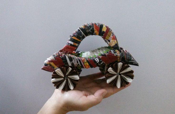 Mihaela's Origami3D handmade paper car decoration.