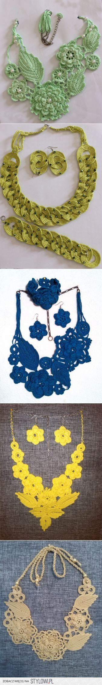 biżuteria Вязание крючком / Вязаные крючком аксессуары…