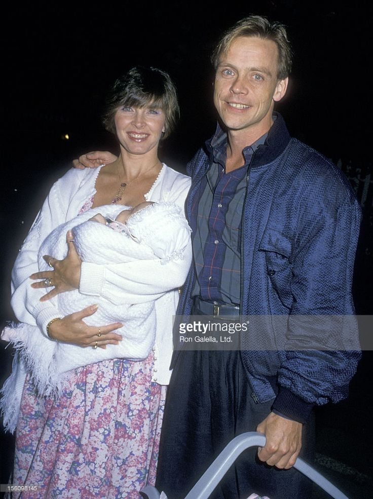 Actor Mark Hamill, wife Marilou York, and daughter Chelsea Hamill attend the 'Cocktail Benefit for Michael Dukakis hosted by Normal Lear' on September 15, 1989 at the Home of Normal Lear in Beverly Hills, California.