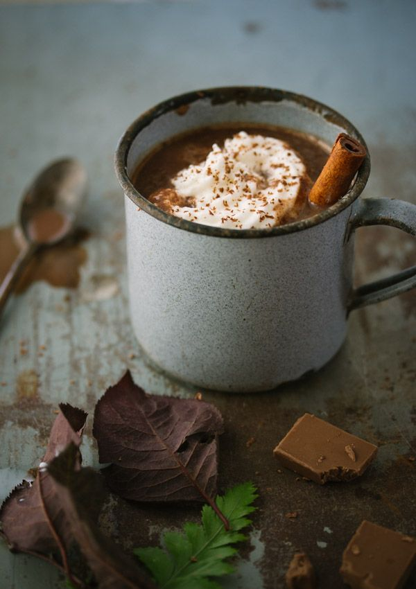 This European-style hot chocolate is thick, decadent, and insanely chocolaty!
