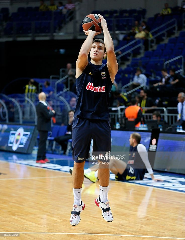 Bogdan Bogdanovic, #13 of Fenerbahce Ulker Istanbul in action during the 2014-2015 Turkish Airlines Euroleague Basketball Regular Season Date 1 between Fenerbahce Ulker Istanbul v EA7 Emporio Armani Milan at Ulker Sports Arena on October 17, 2014 in Istanbul, Turkey.