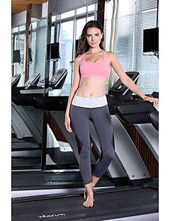 Regina+Yoga®+Per+donna+Corsa+3/4+Collant/Corsari+Pantaloni+Traspirante+Totalmente+elastico+Primavera+Estate+Autunno+Yoga+Spandez+NylonAl+–+EUR+€+47.02