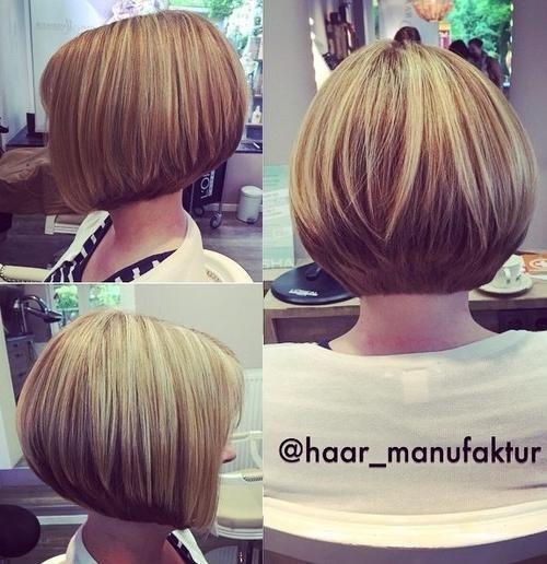 medium stacked bob haircut