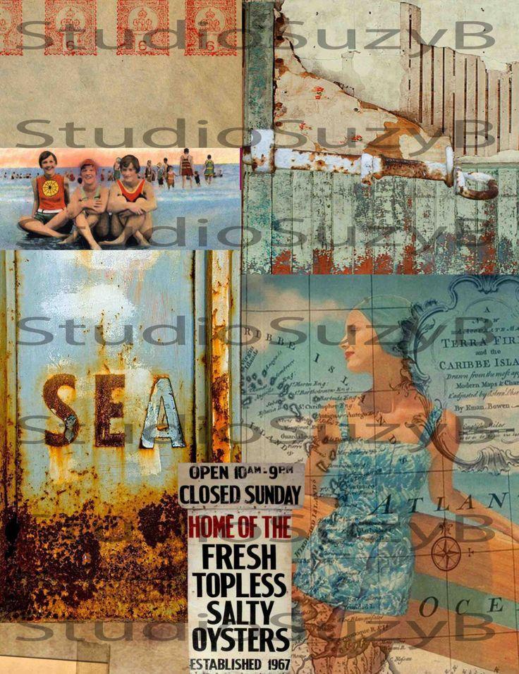 Collage Vintage Summer by StudiosuzybAustralia on Etsy