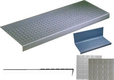 Non Slip One Piece Rubber Stair Tread And Riser Stair