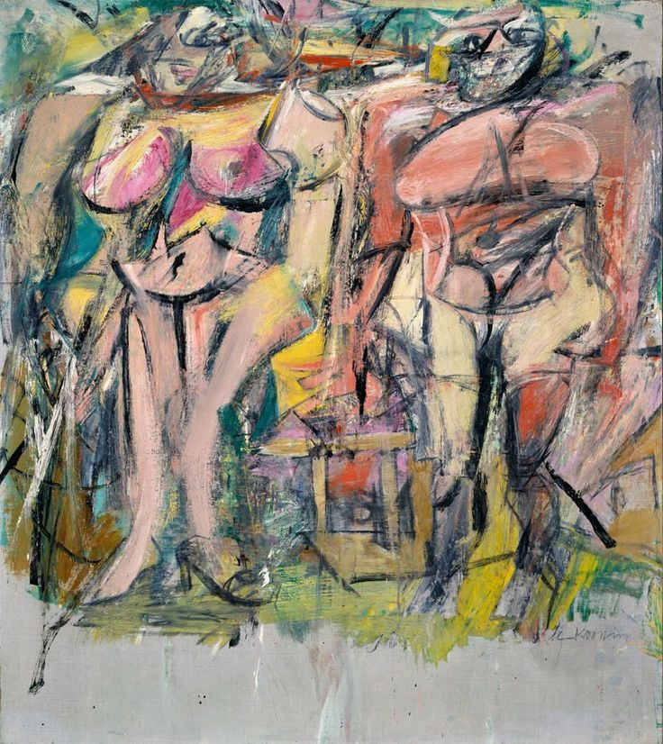Two Women in the Country - Willem de Kooning - WikiArt.