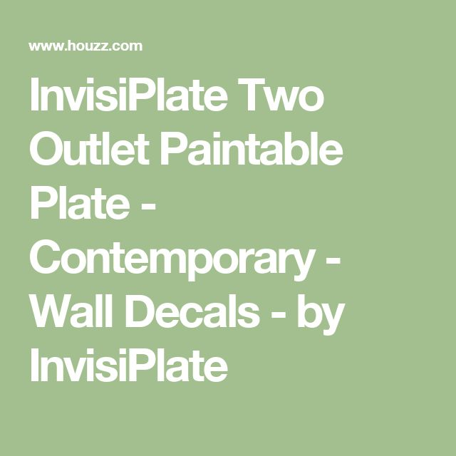 InvisiPlate Two Outlet Paintable Plate - Contemporary - Wall Decals - by InvisiPlate