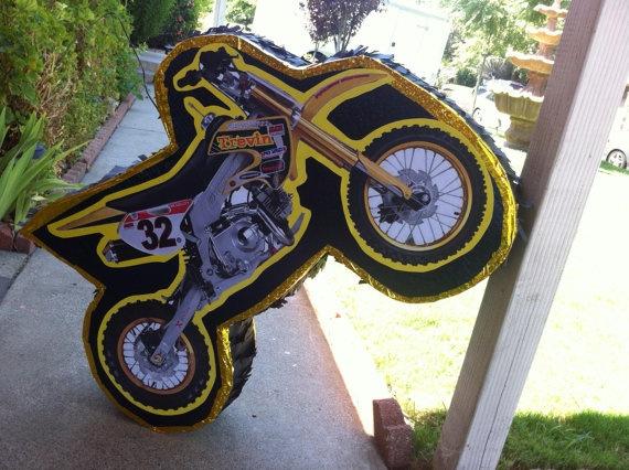 Dirt Bike Pinata By Pinataworks On Etsy 35 00 Kingsley