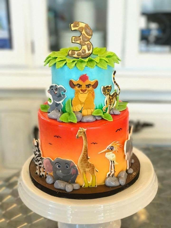 Lion Guard Disney themed birthday cake.