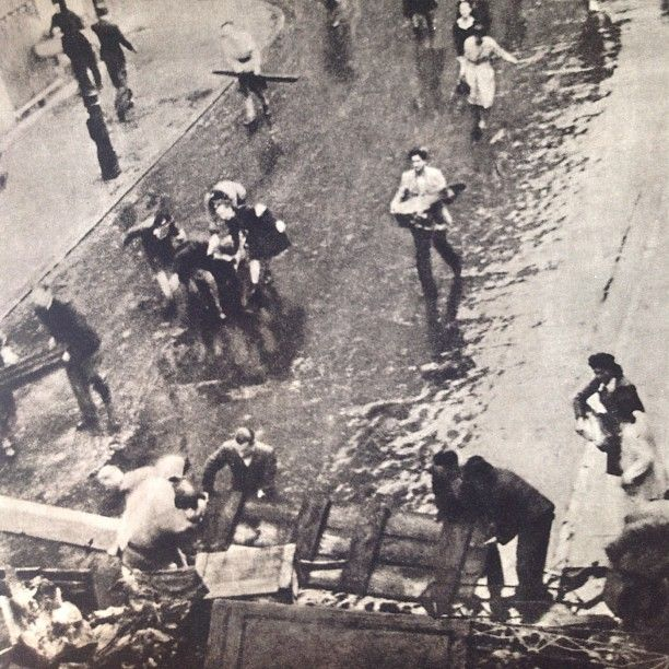 5 PM, August 1st 1944, Warsaw, W-hour, The moment of the start of the Warsaw Uprising.  Source: Dni Powstania
