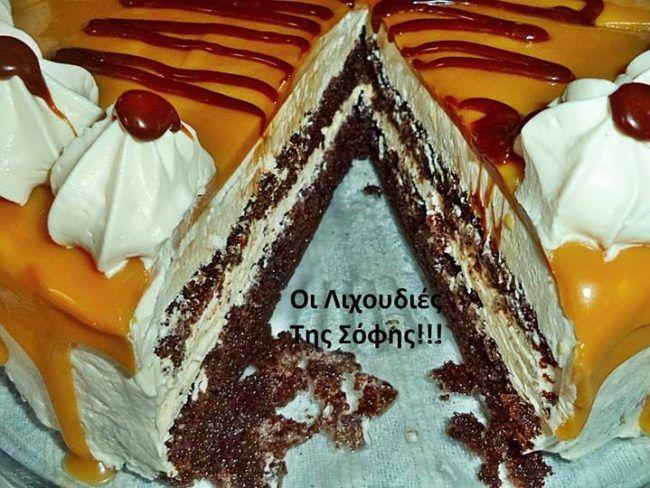 ΤΟΥΡΤΑ ΚΑΡΑΜΕΛΑ!!! Μια καραμελένια τούρτα όνειροοο...!!! ΥΛΙΚΑ ΓΙΑ ΤΟ ΠΑΝΤΕΣΠΑΝΙ 6 αυγά 3/4 κούπας αλεύρι 3 κ.σ κακάο 1/2 κούπα ζάζαρη 1 βανίλια 2 κ.γ μπέικιν 1 πρέζα αλάτι -Χτυπάω αυγά με ζάχαρη και αλάτι 5 λεπτά.Προσθέτω τα στερεά υλικά κοσκινισμένα ανακατεύοντας απαλά με σπάτουλα. Αδειάζω το