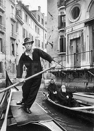 Alfred Eisenstaedt. Gondolas, Venice, Italy. 1947