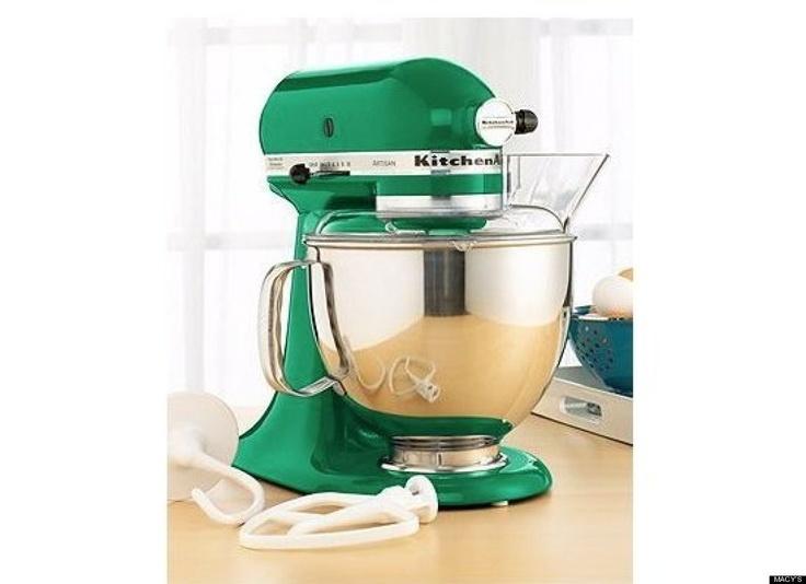 Emerald green stand mixer kitchenaid artisan kitchen