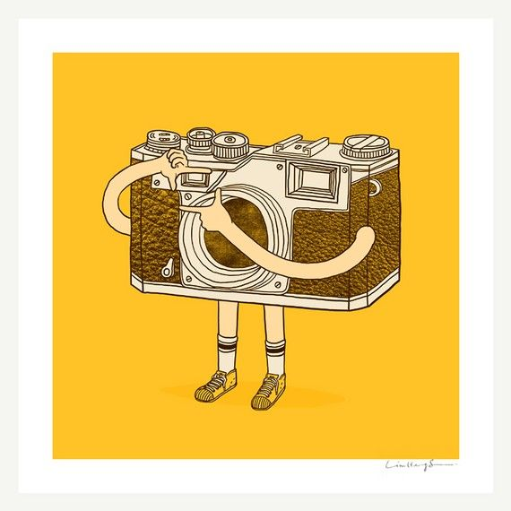"""The Photographer"" art print by ilovedoodle"