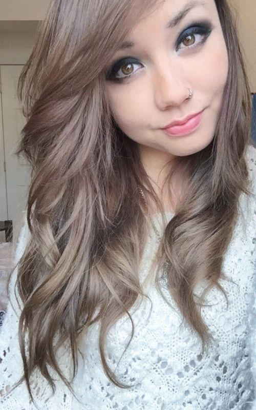 how to get ashy light brown hair on dark hair