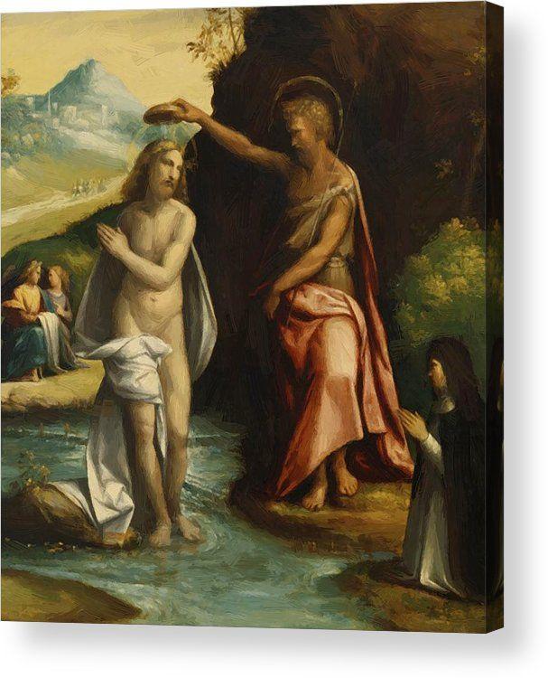 Baptism Of Christ 1525 Acrylic Print By Tisi Benvenuto