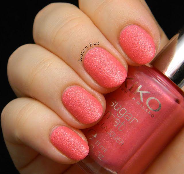 Lacquer Buzz: Kiko Sugar Mat Nail Lacquer Set - review and swatches part 1