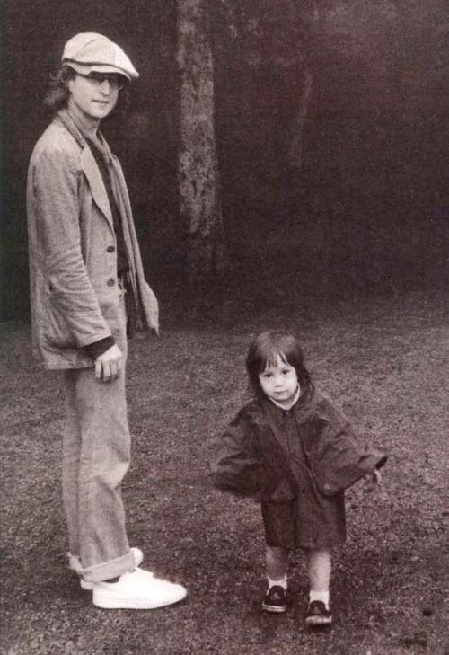 John Lennon and Sean Lennon