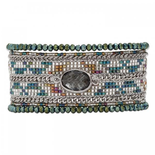 Hipanema Eternity Bracelet Khaki front