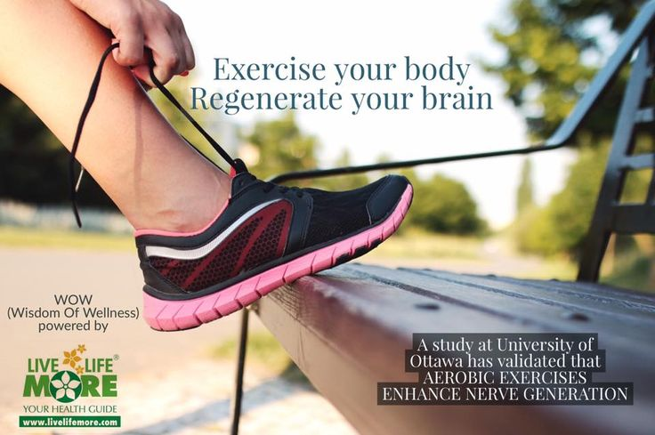 WOW (Wisdom Of Wellness) powered by www.LiveLifeMore.com  #Regular #aerobic #exercise enhanced #Neurogenesis (Nerve cell formation & repair)  This motivating fact was established by a study at University of Ottawa  #exercise #ShaperMemory #SmartBrain #BrainHealth #Workout India LiveLifeMore Health DrSandeep Jassal Daily Post India Daily Post Punjabi Prevention Magazine @