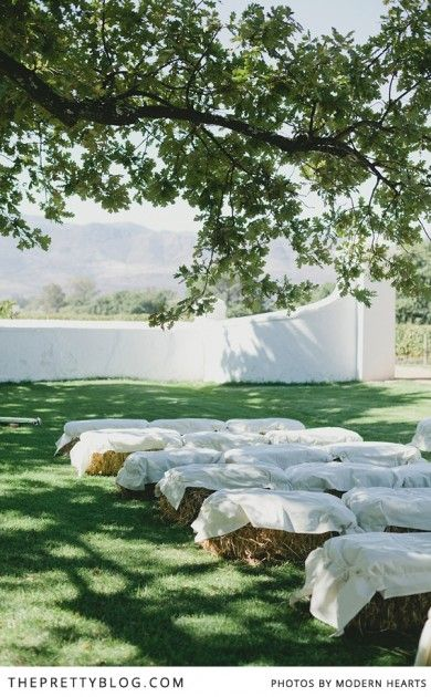 Unique wedding ideas   Seating for your ceremony   Photographers: Modern Hearts  
