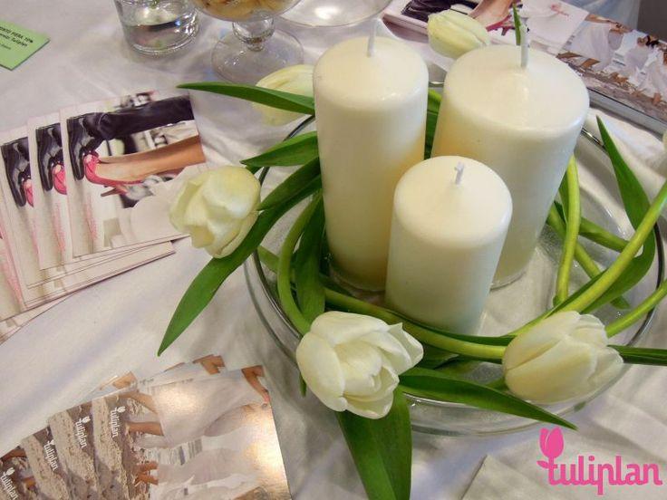 #allestimento #arrangement #fierasposi #fiera #fieranozze #nozze #sposi #matrimonio #fieramatrimonio #tulip #tulipano #candele #candle