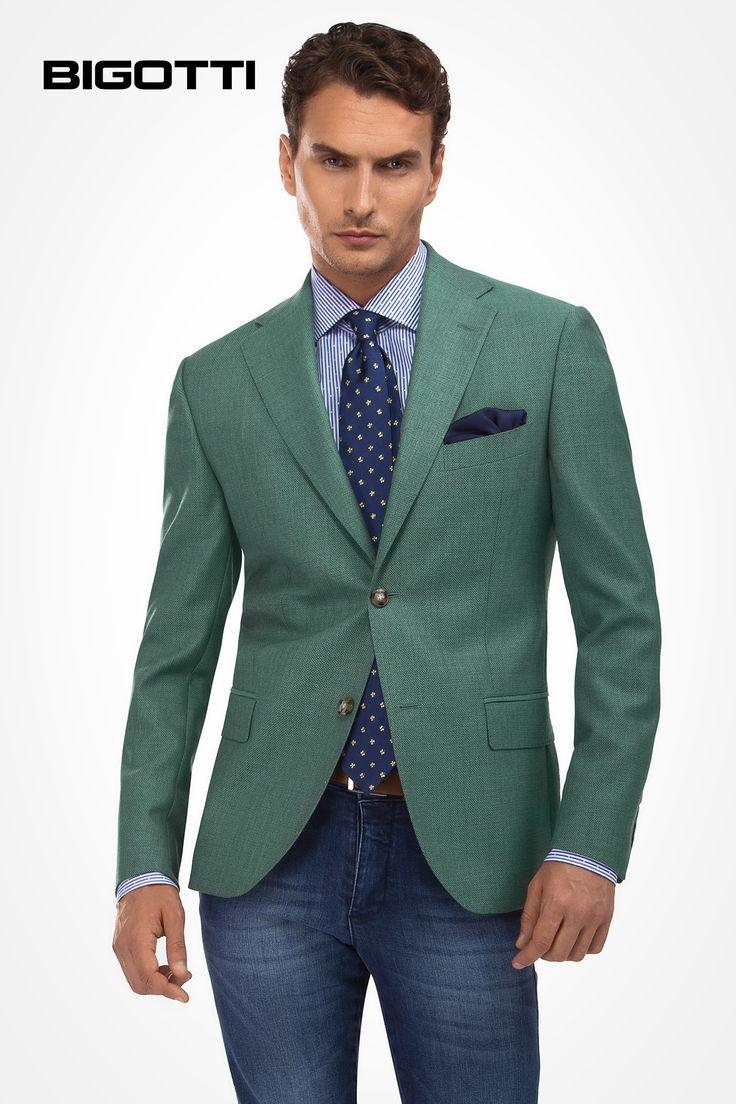 #Made from #light #extra #fine #italian #VitaleBarberisCanonico #wool, the #Bigotti #blazer is #suitable for your #summer #smart #wardrobe www.bigotti.ro
