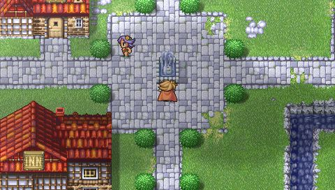 Final Fantasy 1 town - Important reference as to how to keep areas interesting but not crowded (unless intentional)