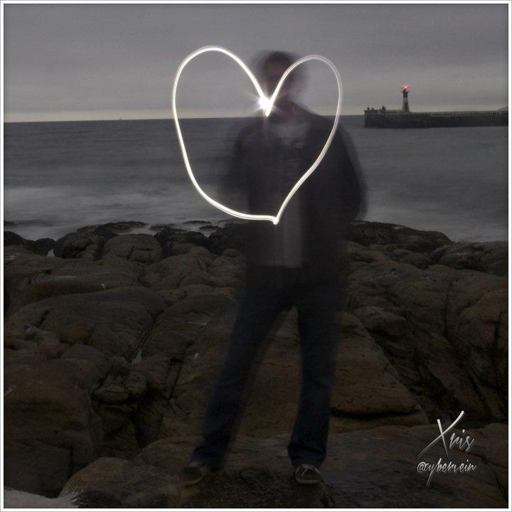 Streamzoo photo - Light painting attempt. Love, Heart
