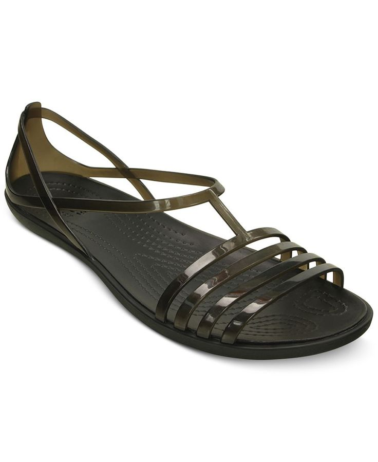 Get contemporary huarache fashion with the glossy, translucent straps on these Isabella sandals from Crocs for cool style and all-day comfort. | Manmade upper; manmade sole | Imported | Round open-toe