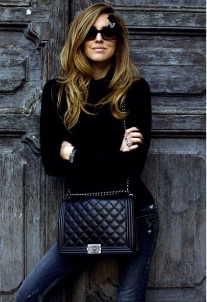 Chiara Ferragni love this winter looks style chanel black jeans sunglasses fab fashionblogger