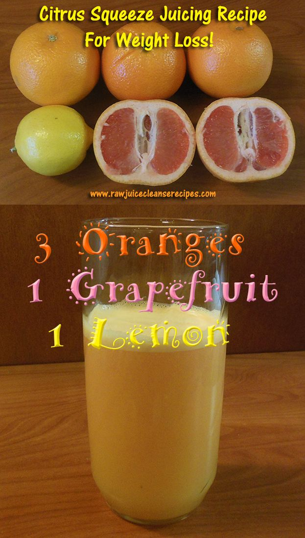 Citrus Squeeze Juicing Recipe For Weight Loss!