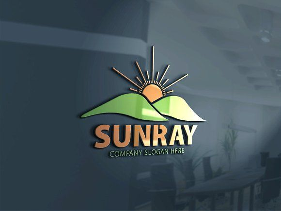 Sun Ray Logo V3 by Creative Dezing on @creativemarket