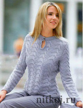 Вязание свитера в деловом стиле